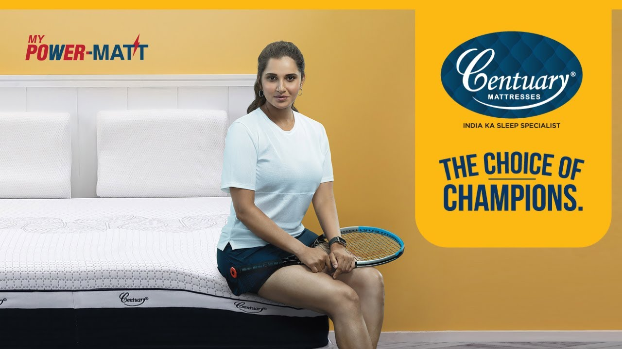 Centuary Mattress launches Choice of Champions campaign featuring Sania Mirza