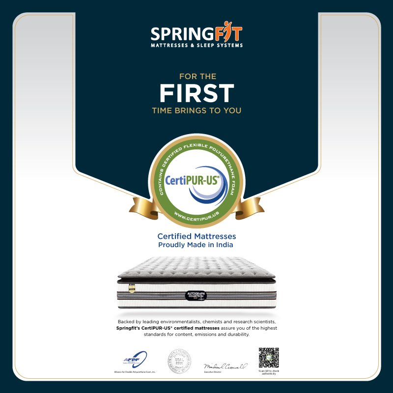 Springfit Brings To You Certipur-us Certified Mattresses That Are Proudly Made In India 1