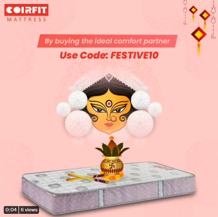 Coirfit mattress offers 10% off on this Navratri 1