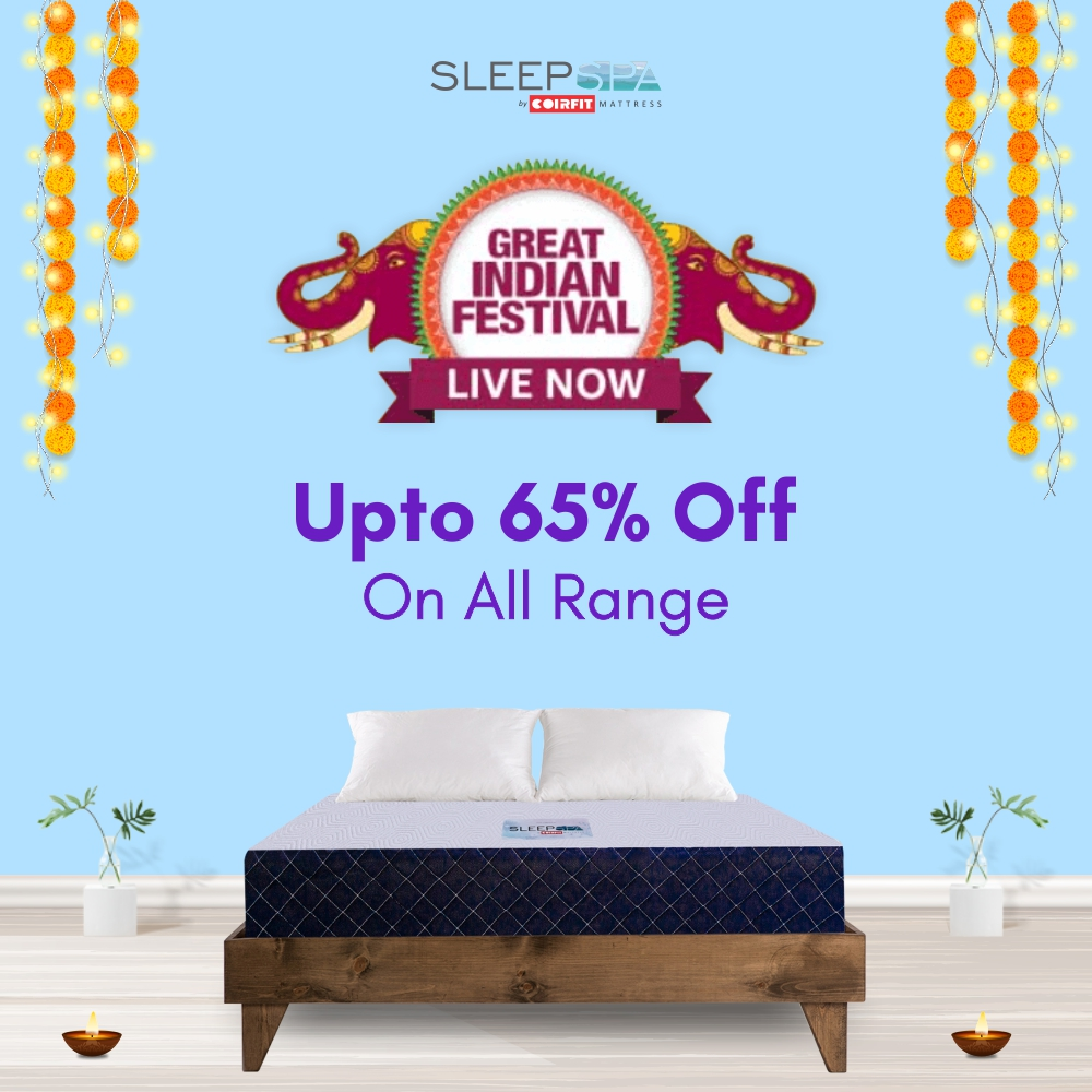 Get up to 65% off on all Sleep Spa Mattresses 1
